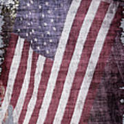 Old Glory Rustic Poster