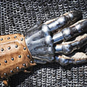 Old Glove Of A Medieval Knight Poster