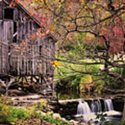 Old Grist Mill - Kent Connecticut Poster