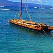 Old Hawaiian Sailboat Poster
