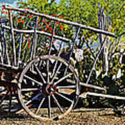 Old Hay Wagon Poster