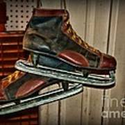 Old Hockey Skates Poster by Paul Ward