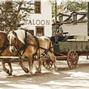 Old Horse Drawn Wagon At Fort Edmonton Park Poster
