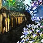 Old House And New Flowers Poster