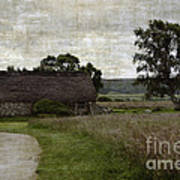 Old House In Culloden Battlefield Poster