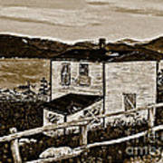 Old House In Sepia Poster