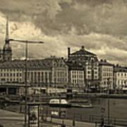 Old In Memory But Modern Copenhagen Poster