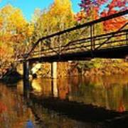 Historic Harvey Bridge Over Manistee River In Wexford County Michigan Poster