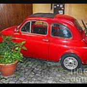 Old Italian Car Fiat 500  Poster
