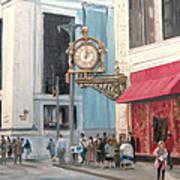 Old Kaufmann's Clock Poster