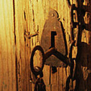 Old Lock And Key Poster