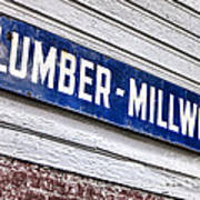 Old Lumberyard Sign Poster