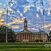 Old Main At Sunset Poster