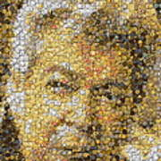 Old Man Coin Mosaic Poster