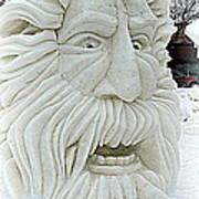 Old Man Winter Snow Sculpture Poster