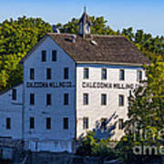 Old Mill In Caledonia Ontario Poster