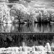 Old Mill Pond In Infrared Poster