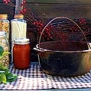 Old Miners Outdoor Kitchen Table Still Life Poster