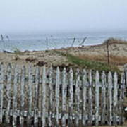 Old Nantucket Fence Poster