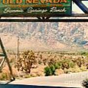 Old Nevada Entrance Poster