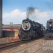 Old Number 3254 Under Steam Poster