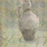 Old Pitcher Abstract Poster