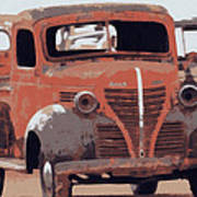 Old Plymouth Trucks Poster