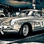 Old Porsche No.3 Toned Poster