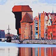 Old Port Crane In Gdansk Poster