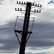 Old Power Pole Poster