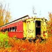 Old Rail Car Poster