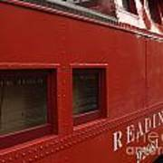Old Reading Rr Caboose In Lititz Pa Poster