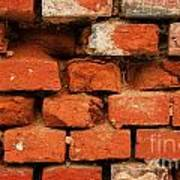 Old Red Brick Wall Poster