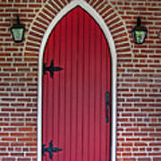 Old Red Door Bullet Shaped Poster