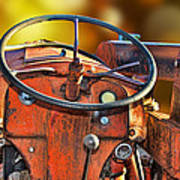 Old Red Tractor Ford 9 N Poster