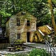 Old Rice Grist Mill Poster