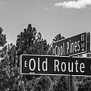 Old Route 66 And Cool Pines Poster