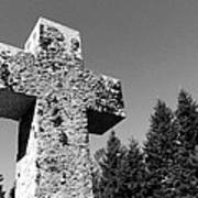 Old Rugged Cross Bw Poster