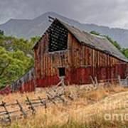 Old Rural Barn In Thunderstorm - Utah Poster