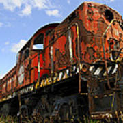 Old Rusted Locomotive Poster