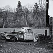 Old Rusty Gmc Pickup Poster