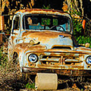 Old Rusty International Flatbed Truck Poster