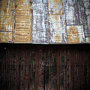 Old Rusty Tin Roof Barn Poster