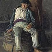 Old Sailor Wearing A Beret, 1889 Poster