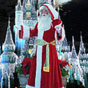 Old Saint Nick Walt Disney World Digital Art 02 Poster