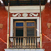 Old San Juan Balcony Poster