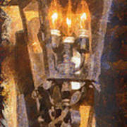 Old Santa Fe Lamp Poster