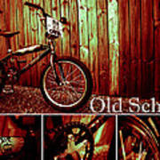 Old School Bmx - Pk Collage Colour Poster