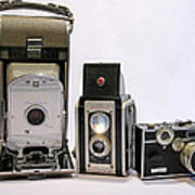 Old School Cameras Poster