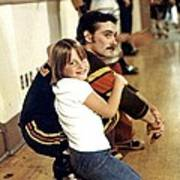 Old School Roller Derby Skater And His Number One Fan Poster
